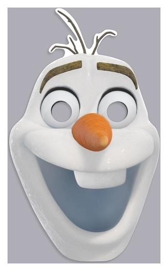 """Маска карнавальная """"Олаф"""", холодное сердце  Disney"""