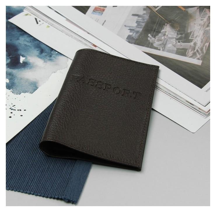 Обложка для паспорта, загран, цвет коричневый NNB