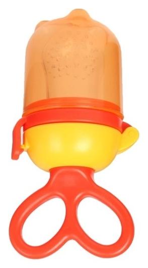 Изделие для прикорма с силиконовой сеточкой, вращающийся поршень, цвет оранжевый  Mum&baby
