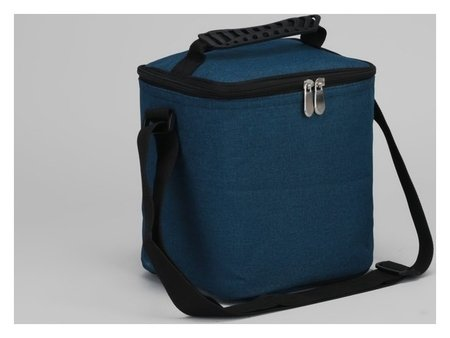 Сумка-термо, отдел на молнии, регулируемый ремень, цвет синий  NNB