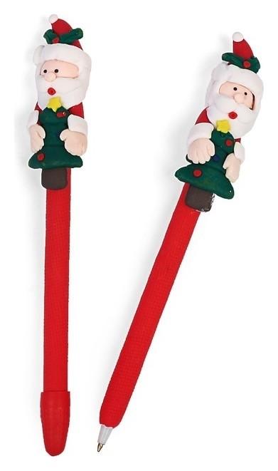 Ручка шариковая-прикол, «Дед мороз с ёлкой»  Calligrata