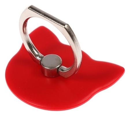 """Держатель-подставка с кольцом для телефона Luazon, в форме """"Кошки"""", красный  LuazON"""