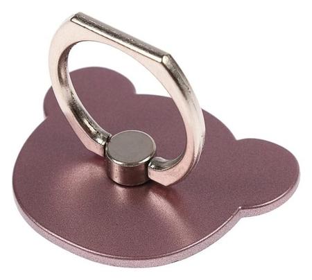 """Держатель-подставка с кольцом для телефона Luazon, в форме """"Мишки"""", розовый  LuazON"""