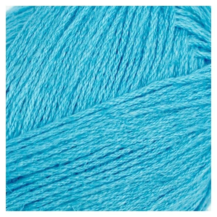 Пряжа Калипсо 34% лен,33% хлопок,33% вискоза 200м/50гр (1224, ярко-голубой) Троицкая камвольная фабрика