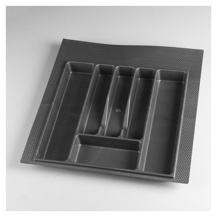 Лоток для столовых приборов 500 мм серый  NNB