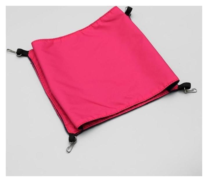 Гамак двойной для крыс, с 4 карабинами, 17 х 18 см, оксфордля флис, красный  NNB