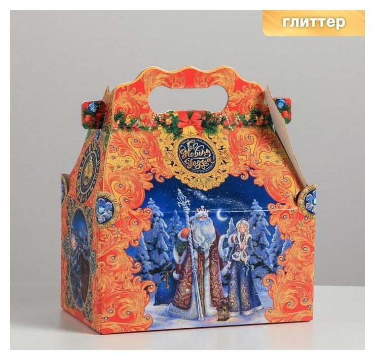 Коробка складная «Новогоднее чудо», 20,5 × 12,3 × 22 см, вместимость - 1200 гр. Дарите счастье