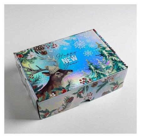 Складная коробка Happy New Year, 30,5 × 22 × 9,5 см Дарите счастье