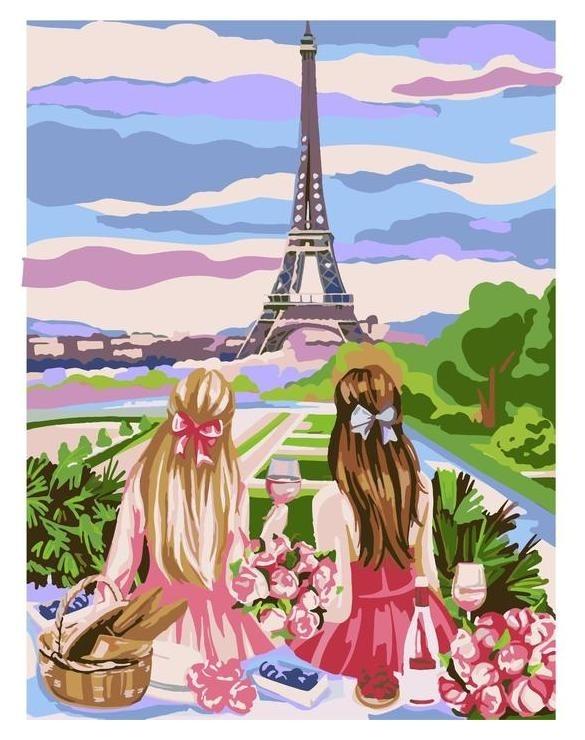 """Картина по номерам на холсте с подрамником """"Пикник в париже"""" 30*40 см  Школа талантов"""