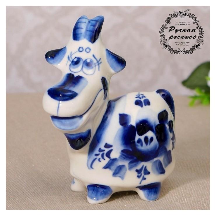 Сувенир керамика Коза дереза 10х7,5 см NNB