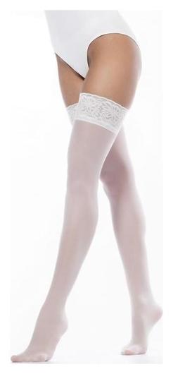 Чулки женские Guilia Emotion 40, цвет белый (Bianco), размер 3-4 (M-L)  Giulia
