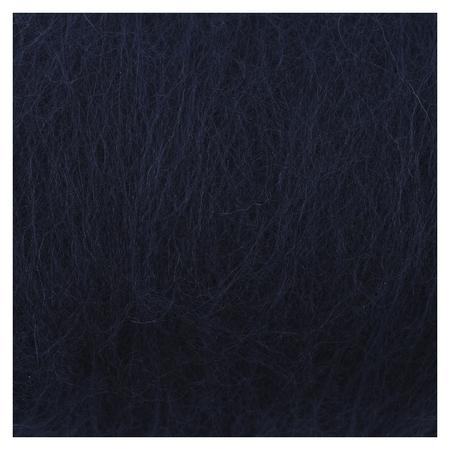 """Шерсть для валяния """"Кардочес"""" 100% полутонкая шерсть 100гр (173 синий)  Камтекс"""