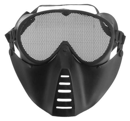 Очки-маска для езды на мототехнике, грязезащита, армированные, черный  NNB