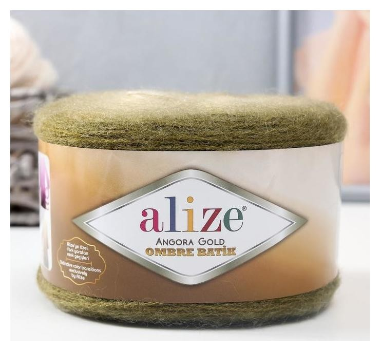 Пряжа Angora Gold Ombre Batik 20% шерсть, 80% акрил 825м/150гр (7355) Alize