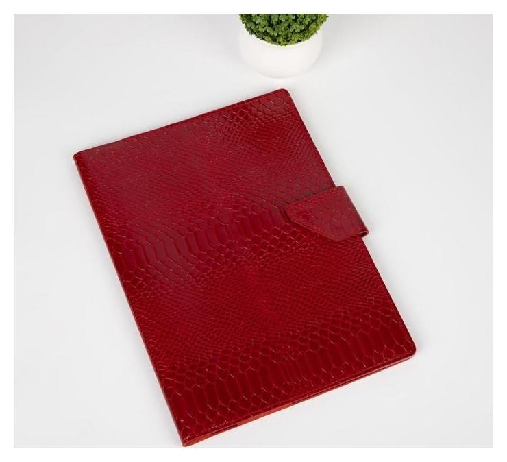 Папка для семейных документов на клапане, 4 комплекта, цвет красный NNB