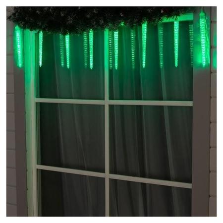 Сосульки рифленые Spec, Ip65, умс-2w, ш:2.5 м, в:30 см, 8 шт, Led(Smd)-192-12v, зеленый LuazON