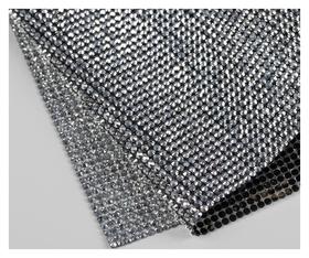 Стразы термоклеевые на листе D = 3 мм, 40 × 24 см, цвет серебряный  Арт узор