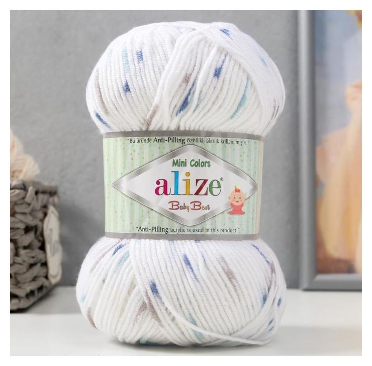 Пряжа Baby Best Mini Colors 90% акрил, 10% бамбук 240м/100гр (6842) Alize
