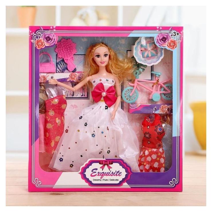 Кукла модель «Анна» с набором платьев и аксессуарами NNB
