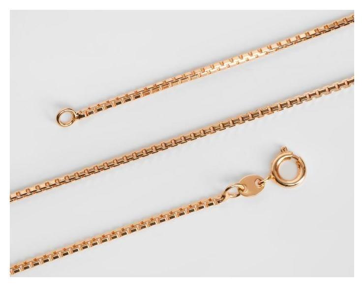 Цепь Тонкая жгут квадратный, круглый карабин, цвет золото, ширина 2 мм, L=60 см NNB
