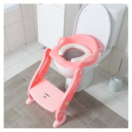 """Сиденье на унитаз """"Нотки"""", с мягким сиденьем, цвет розовый  NNB"""