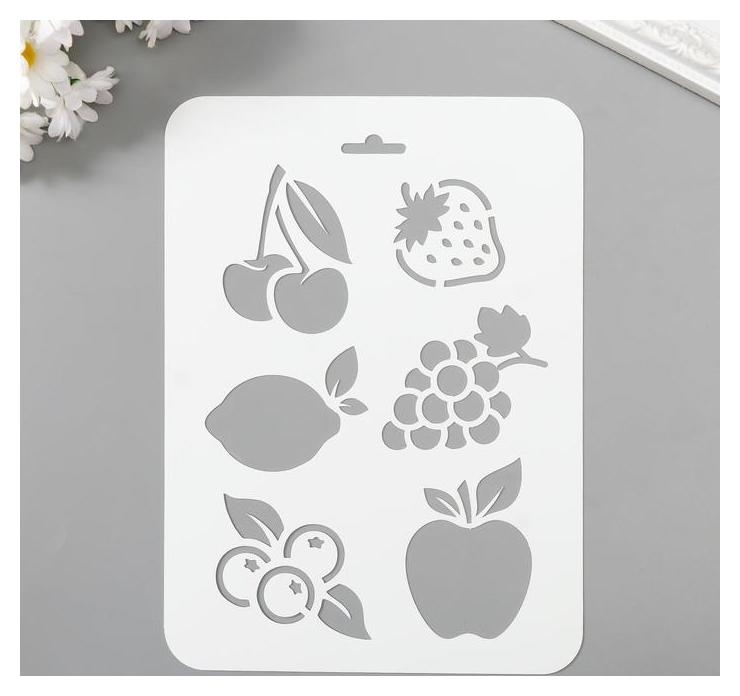 Трафарет пластик Фрукты, ягоды 16х22 см NNB
