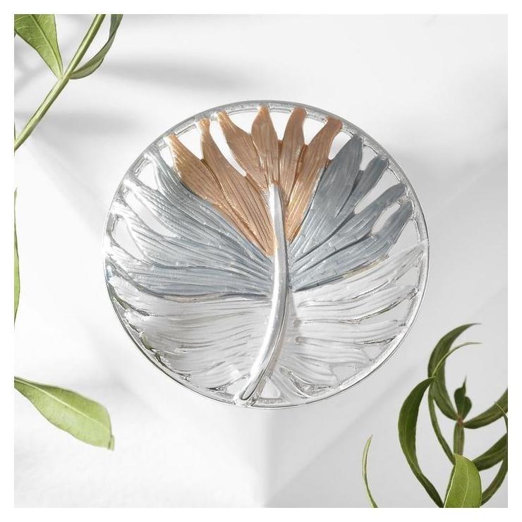 Брошь Растение бохо, цветная в серебре NNB