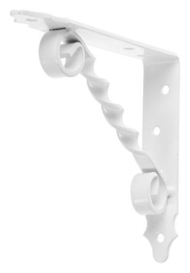 Кронштейн фигурный 150х125 мод.2, белый  NNB