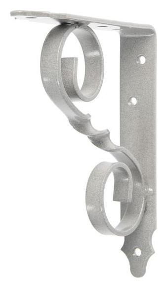 Кронштейн фигурный 150х125 мод.4, цвет серый металлик NNB