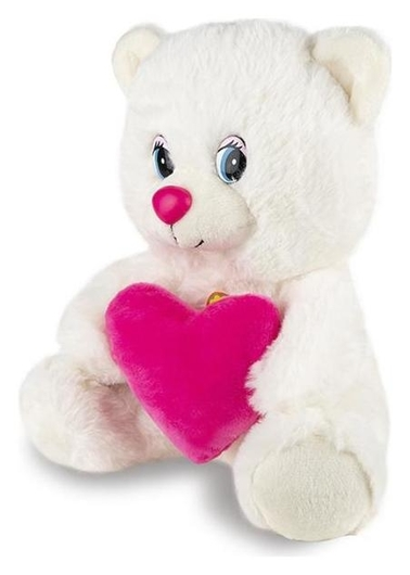 Мягкая игрушка «Мишка с сердцем» озвученный, 21 см  Maxitoys