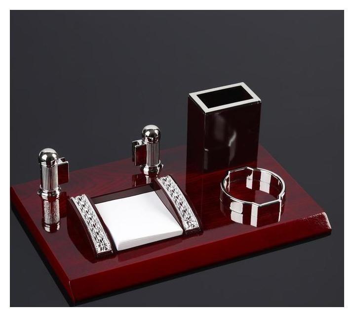 Набор настольный 4в1 Блок для бумаг, карандашница, визитница, подставка для мелочей NNB
