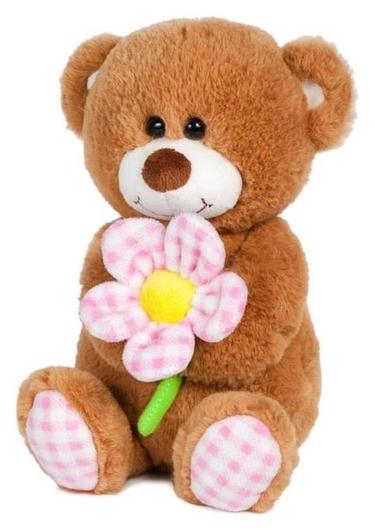 Мягкая игрушка «Мишка с ромашкой» озвученный, 20 см  Maxitoys