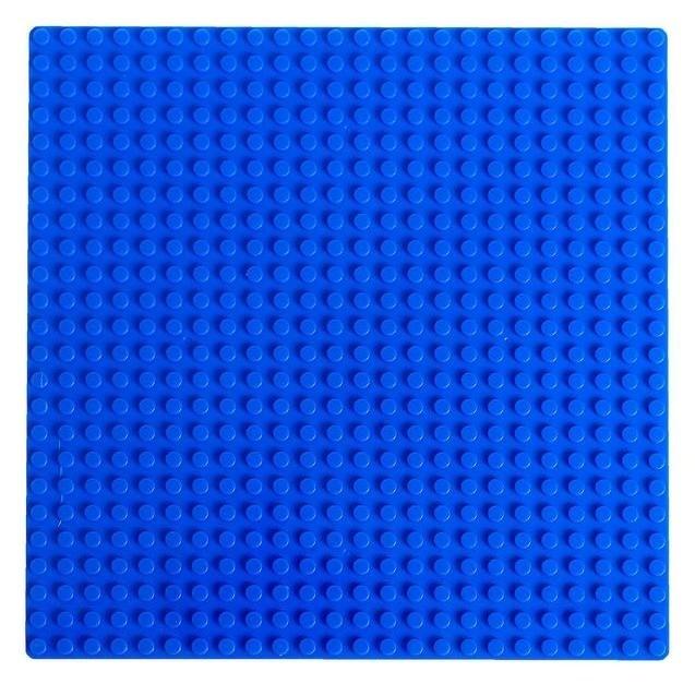 Пластина основание для конструктора 19,5 х 19,5, цвет синий NNB