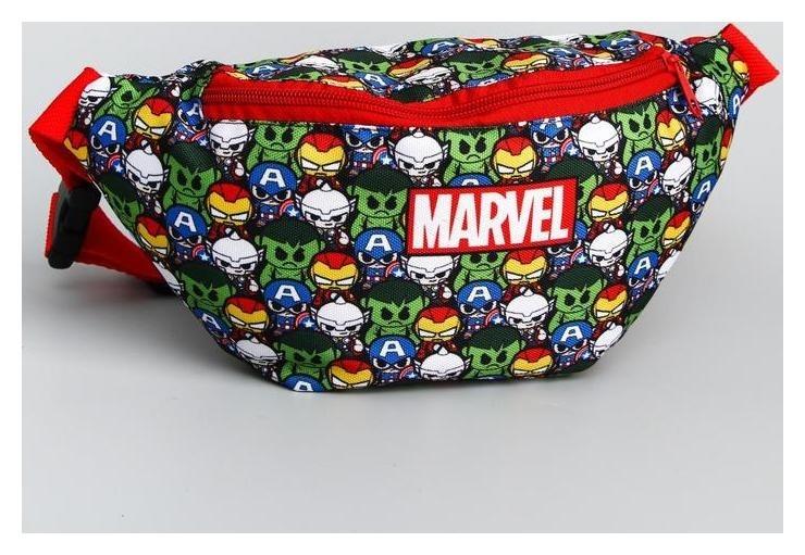 Cумка на пояс Marvel, 25*6*13, отд на молнии, без подклада, цветной  Marvel