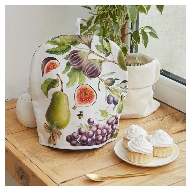 Грелка на чайник Этель фруктовый сад 28х28см, 100% хл., 190г/м2 Этель