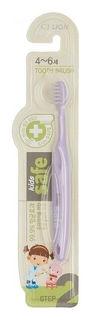 Зубная щетка детская 4-6 лет мягкая жесткость щетины Kids safe  CJ Lion