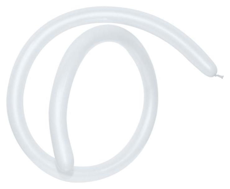 Шар для моделирования 260 стандарт, пастель, белый набор 100шт.  Everts