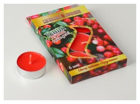 Свечи чайные ароматические, 6штук, брусника  Queen Fair