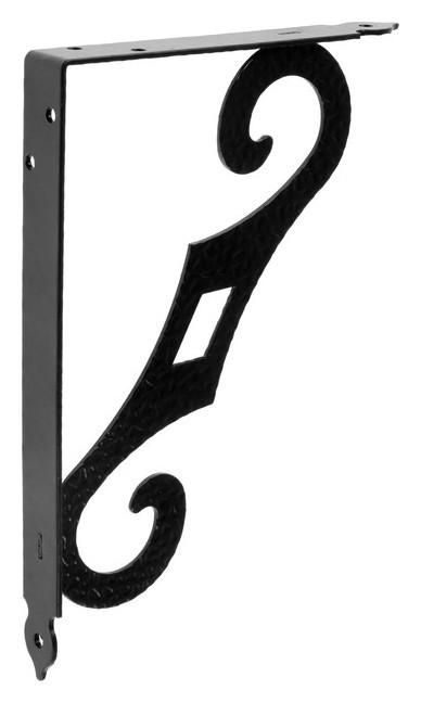 Кронштейн декоративный кд-250-175-s, цвет черный матовый  Noez