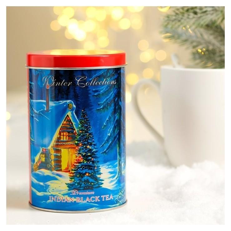 Чай черный лондон прайд Зимний домик листовой индийский байховый ж/б 100 г NNB