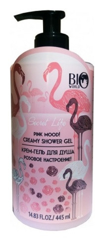 Крем-гель для душа Розовое настроение  Bio World