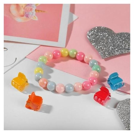 """Комплект детский """"Выбражулька"""" 5 предметов: 4 крабика, браслет 2 нити, радуга  Выбражулька"""