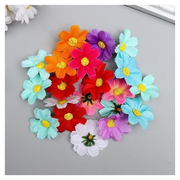 Цветы для декорирования Георгина миньон набор 20 шт 3,5х3,5 см Арт узор