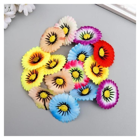 "Цветы для декорирования ""Хризантема маскарад"" набор 15 шт 3,5х3,5 см  Арт узор"