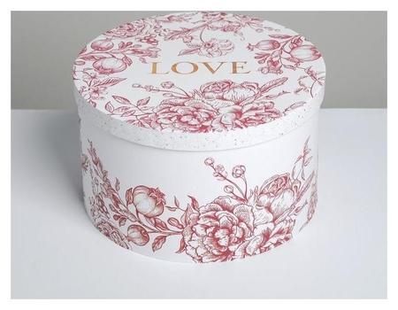 Коробка подарочная круглая «Любовь», 25 × 15 см Дарите счастье