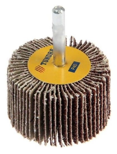 Круг лепестковый радиальный Tundra, 50 х 30 х 6 мм, Р40  Tundra