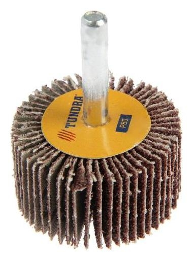 Круг лепестковый радиальный Tundra, 40 х 20 х 6 мм, Р80  Tundra