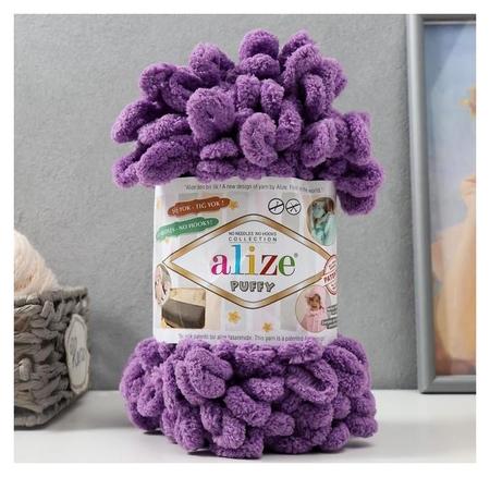 "Пряжа ""Puffy"" 100 % микрополиэстер 9м/100г (437 лиловый)  Alize"