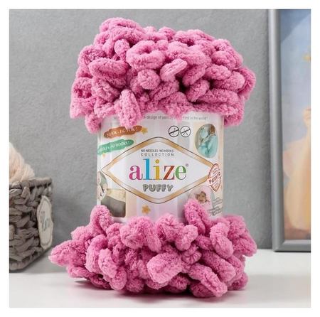 Пряжа Puffy 100 % микрополиэстер 9м/100г (98 т.розовый) Alize