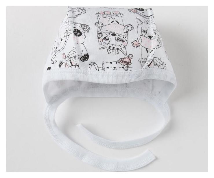 Чепчик для девочки а.эк.001.003.0.0.023, размер 44  Amelli